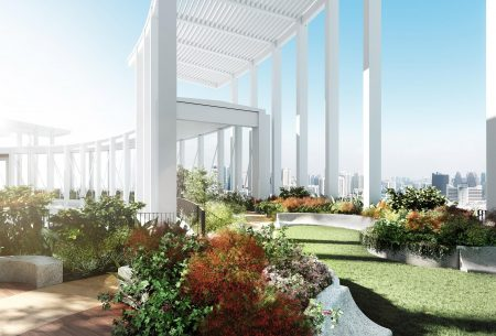 The Skybridge-an oasis in the sky, 39 floors off the ground.
